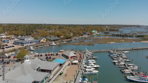 Fototapety, obrazy: Georgetown aerial view in spring season, South Carolina