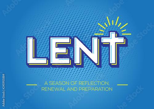 Obraz na plátně Lent, time of repentance, fasting and preparation