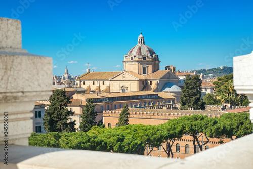 Cityscape Of Rome View From The Terrazza Delle Quadrighe