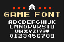 Set Of Vector Letters In Retro...