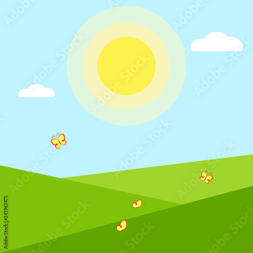 Wallpaper application Summer season background Geometric summer