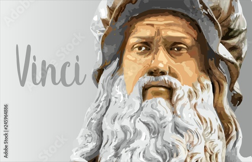 Poster Inspiration painterly Leonardo - great masters of world art