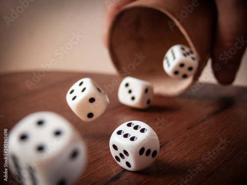Canvas Print Rolling Dices