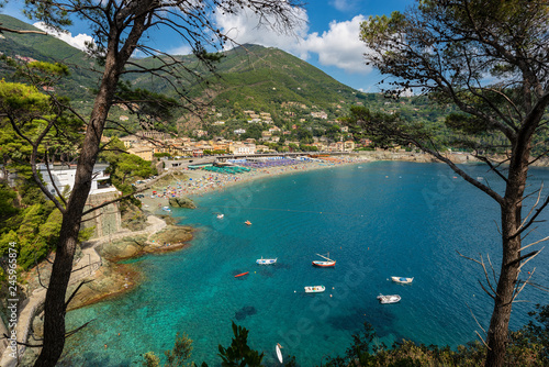 Fotobehang Liguria Beach and Coast of Bonassola in Liguria Italy
