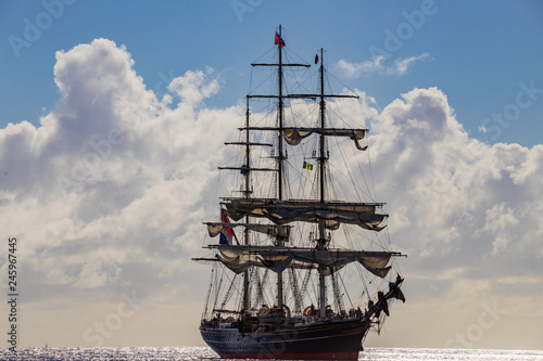 Foto auf AluDibond Saint Vincent and the Grenadines, tall ship
