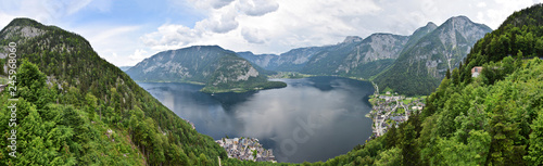 Photo sur Toile Gris Hallstatt Aerial Panorama