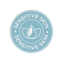 Sensitive Skin Icon. Label Wit...
