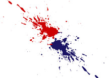 Abstract Vector Splatter Red A...
