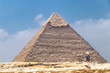 The Pyramid of Khafre or of Chephren, is the second-tallest and second-largest of the Ancient Egyptian Pyramids of Giza and the tomb of the Fourth-Dynasty pharaoh Khafre (Chefren)