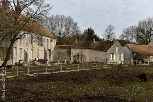 Fotografie, Obraz  Abbaye Royale Notre Dame de Cercanceaux, Souppes sur Loing, 77, Seine et Marne