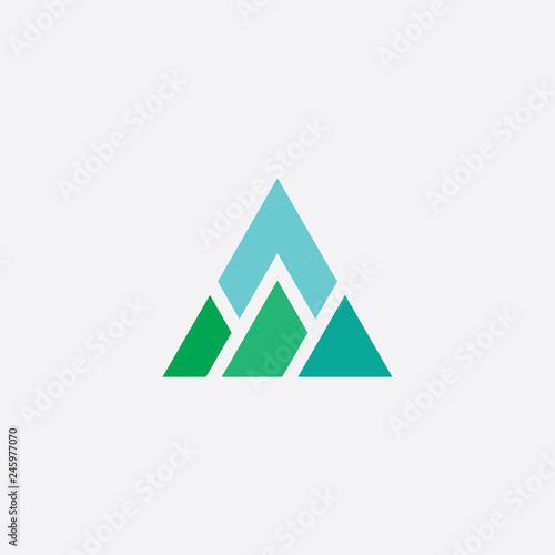 Fotografie, Tablou mountain vector triangle logo icon element