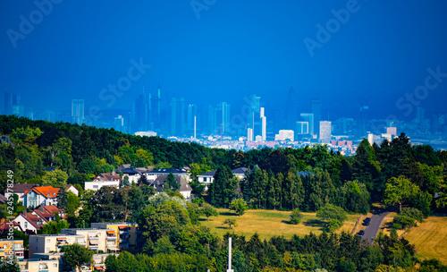 Foto op Aluminium Kuala Lumpur View of the city of Frankfurt am Main, Germany