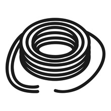 Wired Power Cable Icon. Simple Illustration Of Wired Power Cable Vector Icon For Web Design Isolated On White Background