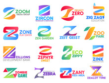 Business Icons, Letter Z, Corporate Identity