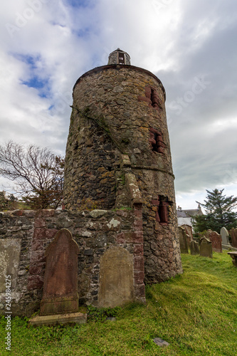 Fotografiet  Old Portpatrick church of Saint Andrew in Scotland, United Kingdom