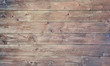 Leinwanddruck Bild - Bright old wood texture with knotholes. Abstract background.