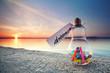 canvas print picture - Wünsche und Träume - magischer Abend am See