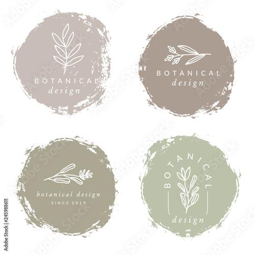 Foto  Botanical Design Logo Templates