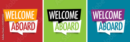 Welcome aboard ! Canvas Print