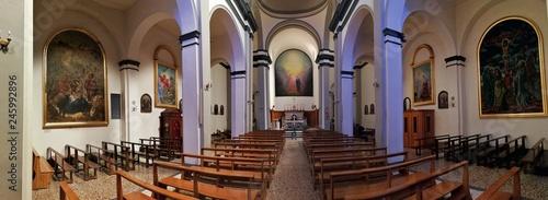 Fototapeta Castel di Sangro - Panoramica della chiesa di San Giovanni Battista