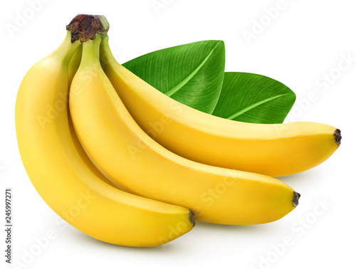 Bunch of bananas isolated Fototapete