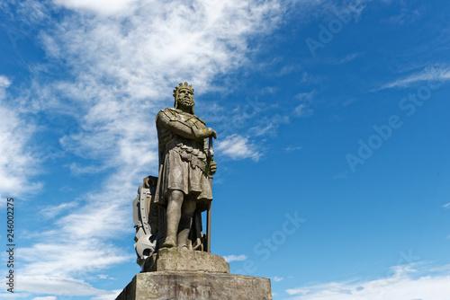 In de dag Historisch mon. Schottland - Stirling - Robert the Bruce Statue