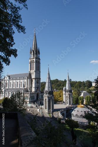Poster Temple Wallfahrtskirche, Lourdes, Frankreich
