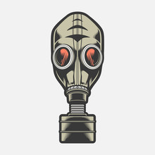 Gas Mask. Vector Illustration