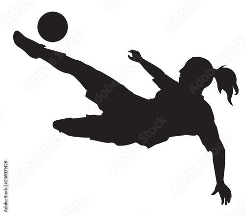 SILHOUETTE FEMME_FOOTBALL