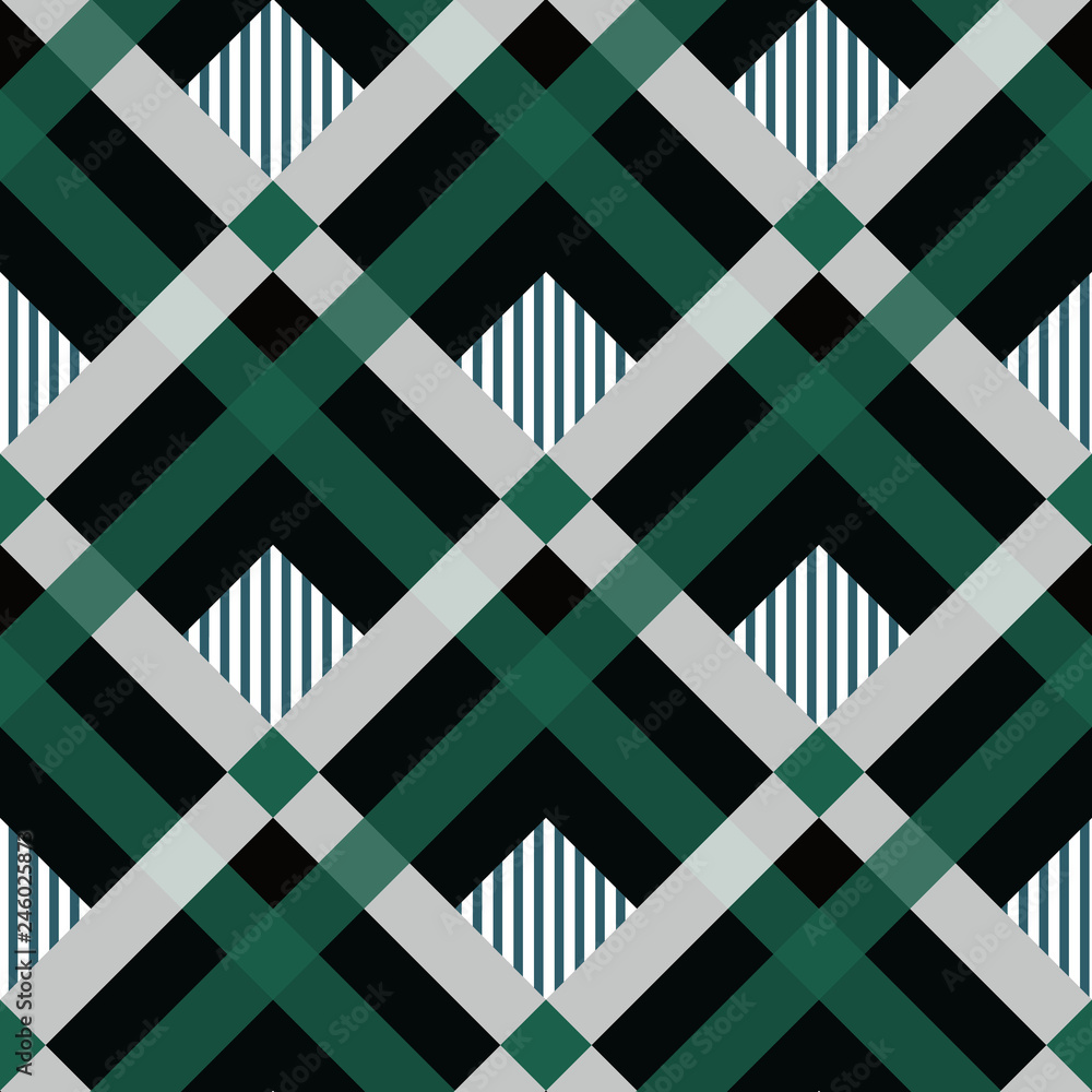 Photo & Art Print Pride of ireland tartan fabric texture