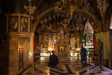 Church Of The Holy Sepulchre, Calvary (Golgotha), The Place Where Jesus Was Crucified, Old City, Jerusalem, Israel