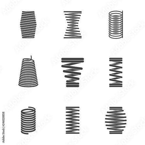 Fotografie, Obraz  Flexible steel spiral