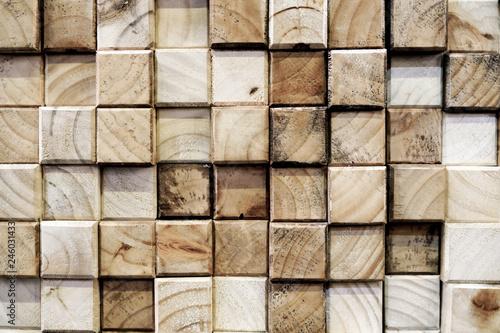Kwadratowe drewno streszczenie tło
