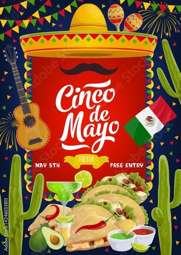 Mexican Cinco de Mayo fiesta celebration food