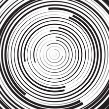Black And White Concentric Lin...
