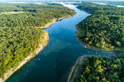 aerial view of Truman Lake Canvas-taulu