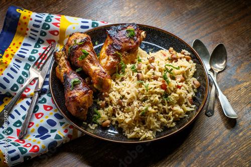 Fotografia, Obraz  Barbecue Chicken Jollof Rice