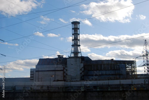 The Chernobyl Nuclear Power Plant sarcophagus covering