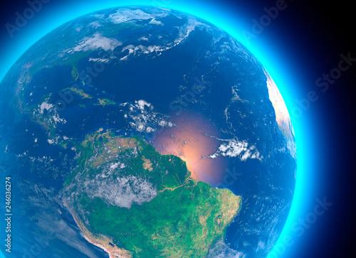Cartina Geografica Satellitare.Vista Satellitare Dell Amazzonia Cartina Geografica Stati Del Sud America Rilevi E Pianure Cartina Fisica Disboscamento Foresta Buy This Stock Illustration And Explore Similar Illustrations At Adobe Stock Adobe Stock