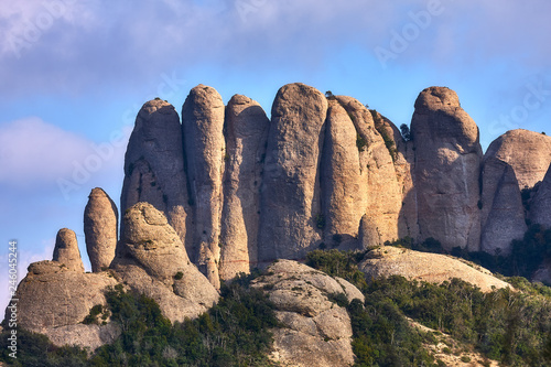 Fotografering  Mountains in Montserrat in Catalonia of Spain in a sunny day