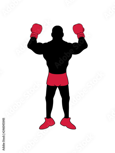 Posen Boxer Handschuh Boxhandschuh Sport Boxen Ring Kickboxer