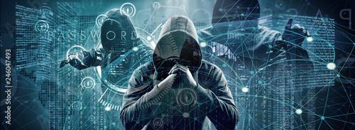 Fotomural  Hacker - Cyber Kriminalität