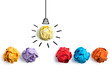 Concept Creative Idea And Innovation With Paper Ball