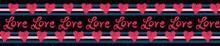 Red Brush Stroke Love Hearts W...
