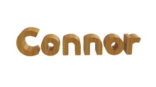 Connor Name In 3d Decorative Rendering With Wooden Texture