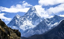 View From Namche Bazaar Trail To Everest Base Camp For Ama Dablam, The Most Spectacular Peak On Everest Region