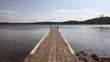 Jetty, at early morning, summer time in sweden