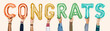 canvas print picture - Colorful alphabet balloons forming the word congrats
