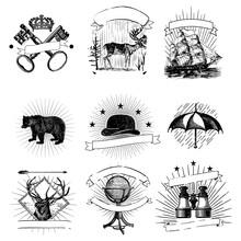 Vintage Logos Collection Illustration