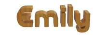 Emily Name In 3d With Wooden T...